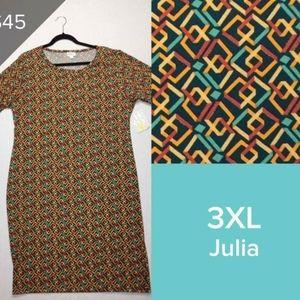 LulaRoe LLR Julia fitted dress Diamond sz 3XL